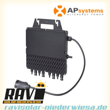 APSystems QS1 (1200) Micro-Inverter to connect 4 modules | single phase 230V AC-50Hz | 60/72 cells